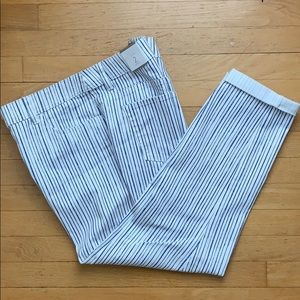 Chico's Painterly Striped Jeans Size 2, Blue/White
